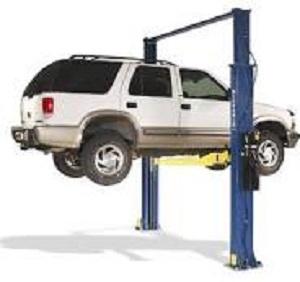 Chevrolet Blazer on a car hoist