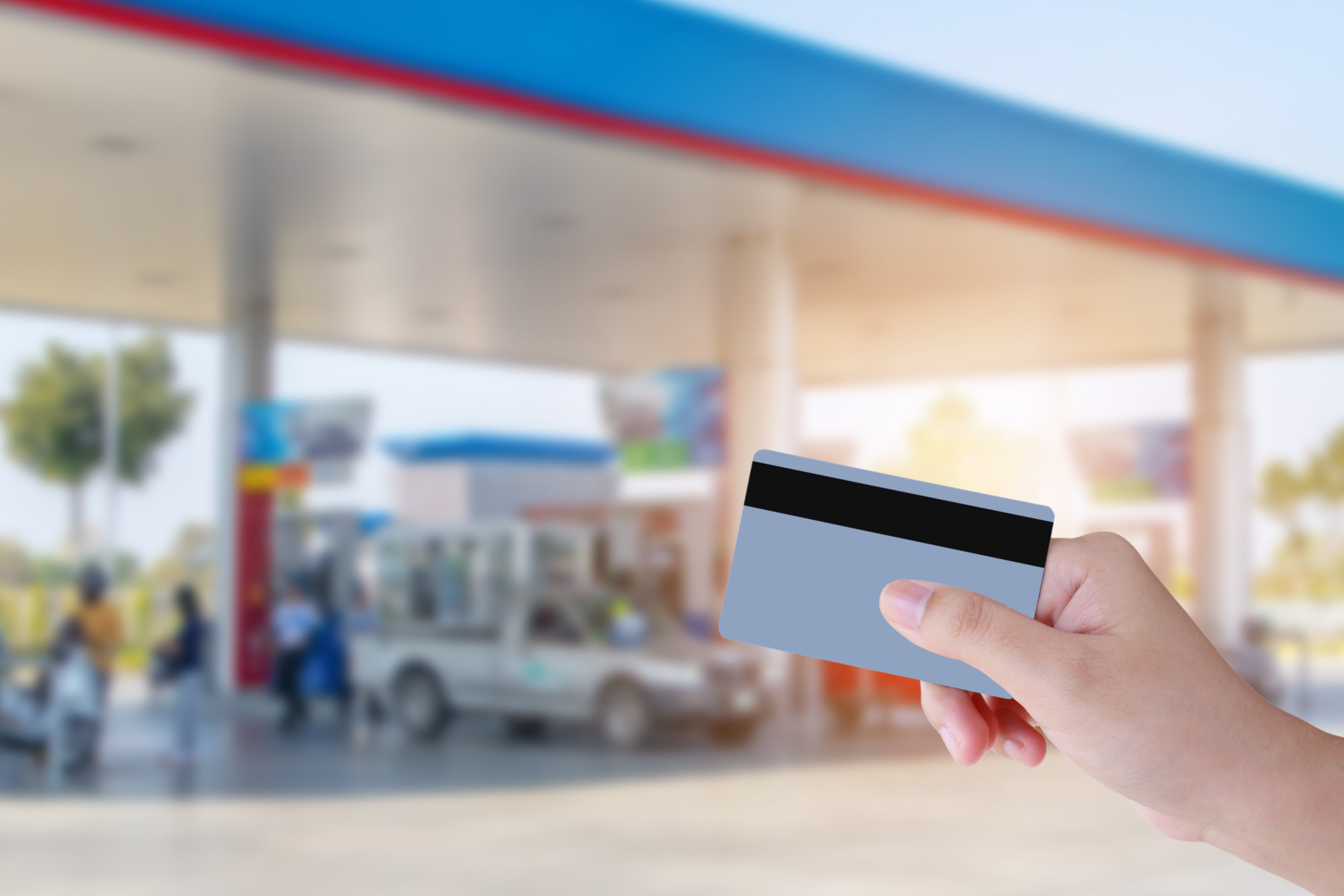 fuel station and credit card