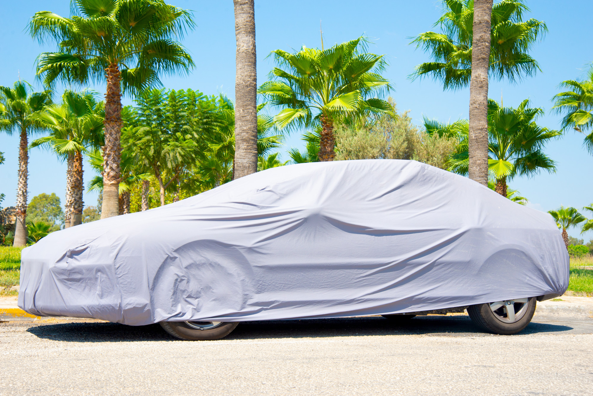 car under a cover