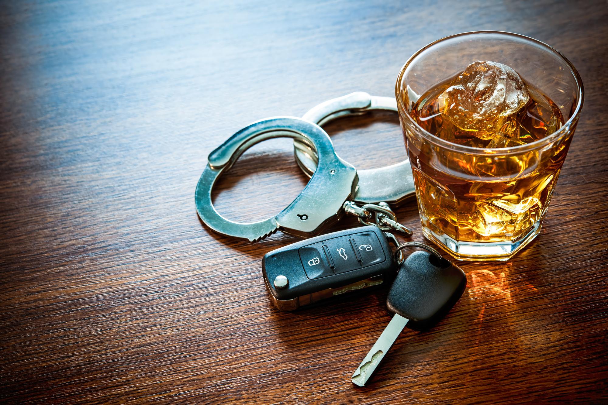 car keys and alcohol