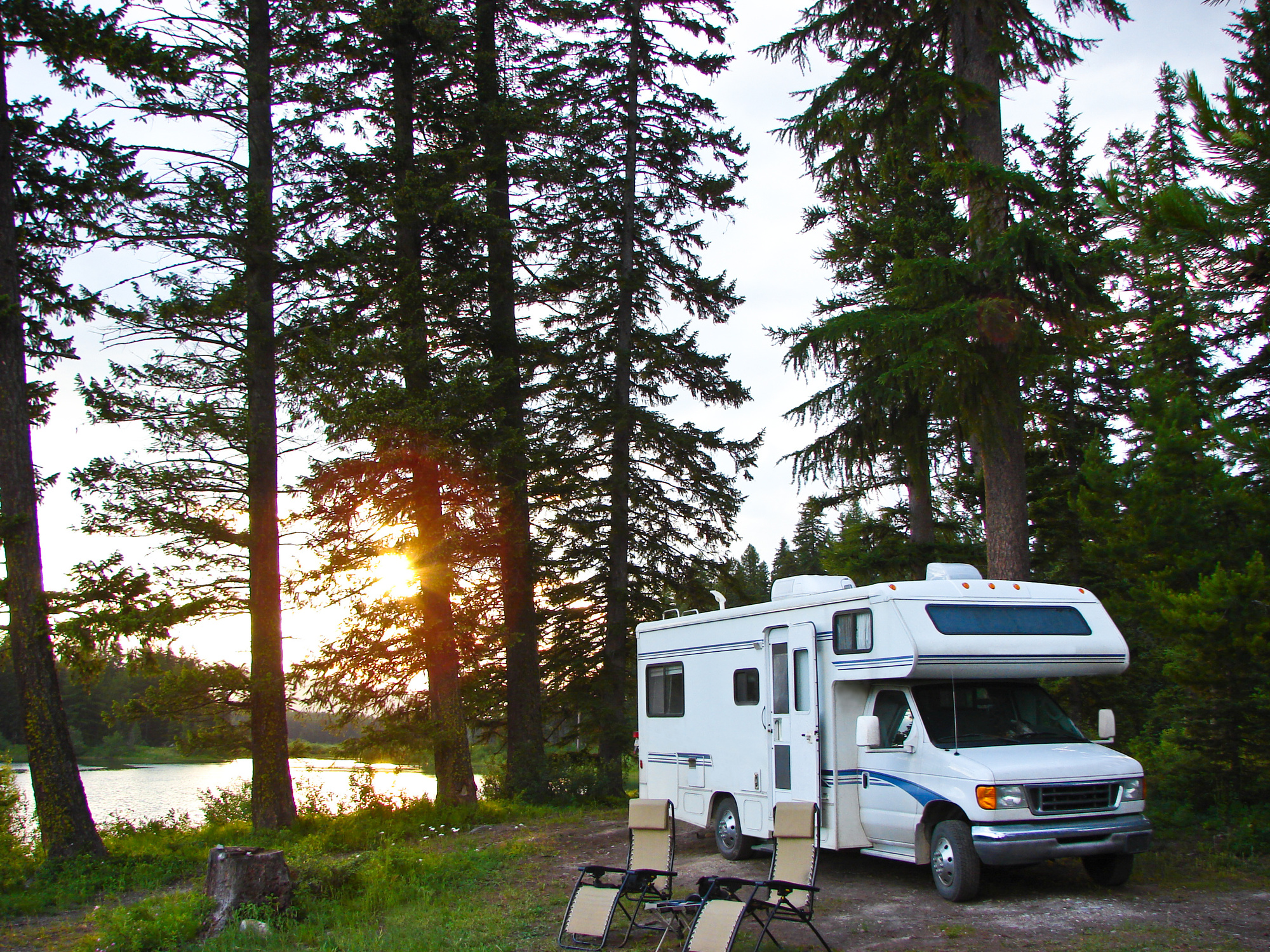 Camp in the US